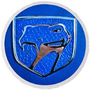 Dodge Viper Emblem -217c Round Beach Towel