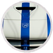 Dodge Viper Hood Emblem Round Beach Towel by Jill Reger