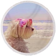 Dog Days Of Summer Round Beach Towel