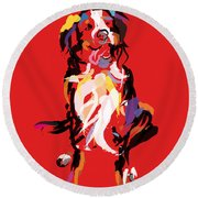 Dog Iggy Round Beach Towel