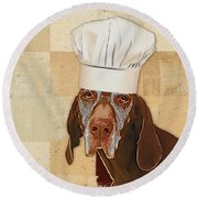 Dog Personalities 56 Chef Round Beach Towel