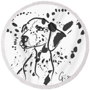 Dog Spot Round Beach Towel