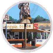 Doggie Diner 1986 Round Beach Towel