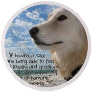 Doggie Soul Round Beach Towel