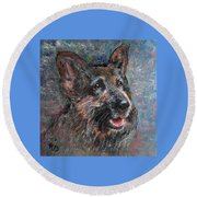 Doggy Dreams Round Beach Towel