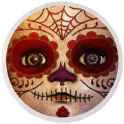 Round Beach Towel featuring the photograph Doll 6 by WB Johnston