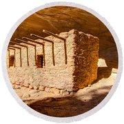 Doll House Anasazi Ruin - Utah Round Beach Towel