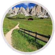 Dolomiti - Cir Group Round Beach Towel