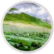 Donegal Hills Round Beach Towel