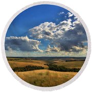 Donny Brook Hills Round Beach Towel