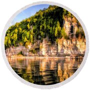 Door County Ellison Bay Bluff Round Beach Towel