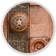 Door To Texas State Capital Round Beach Towel
