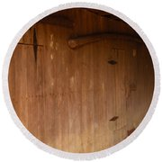 Round Beach Towel featuring the photograph Doors To The Past by Nick Kirby
