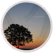 Round Beach Towel featuring the photograph Dorset Dawn by Wendy Wilton