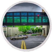 Round Beach Towel featuring the photograph Double Line by Dennis Baswell