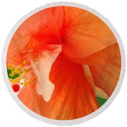 Double Peach Round Beach Towel