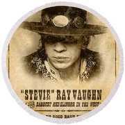 S. R. V. Wanted Poster 1 Round Beach Towel