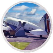 Douglas Dakota Dc3 Round Beach Towel