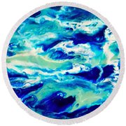 Down By The Seaside 1 Round Beach Towel