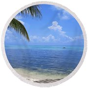 Down Island Round Beach Towel by Stephen Anderson