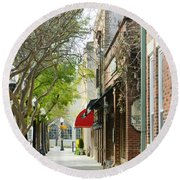 Downtown Aiken South Carolina Round Beach Towel by Andrea Anderegg