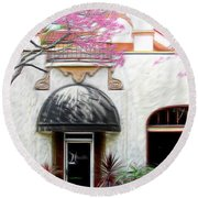 Round Beach Towel featuring the photograph Downtown by Athala Carole Bruckner