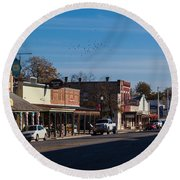 Downtown Boerne Round Beach Towel