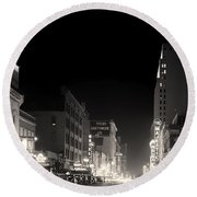 Downtown Dallas 1942 Round Beach Towel by Mountain Dreams