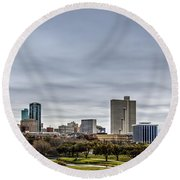 Downtown Fort Worth Trinity Trail Round Beach Towel