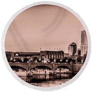 Downtown Indianapolis Round Beach Towel