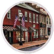 Downtown Jonesborough Tn Round Beach Towel