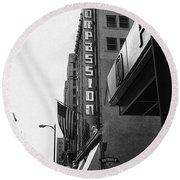 Round Beach Towel featuring the photograph Downtown La - Mid '70's by Doc Braham
