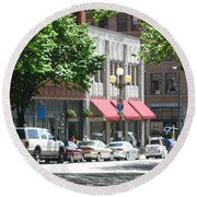 Downtown Neighborhood Round Beach Towel