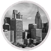 Downtown Philadelphia Round Beach Towel
