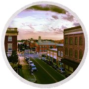 Downtown Washington Nc Round Beach Towel