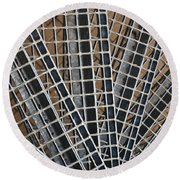 Round Beach Towel featuring the photograph Downward Spiral by Wendy Wilton
