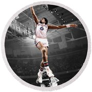 Dr J Round Beach Towel by Brian Reaves