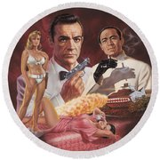 Dr. No Round Beach Towel