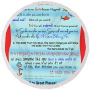 Dr Seuss - Quotes To Change Your Life Round Beach Towel