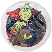Dracula Round Beach Towel by Maylee Christie