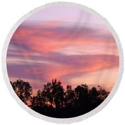 Round Beach Towel featuring the photograph Dragon Clouds by Meghan at FireBonnet Art