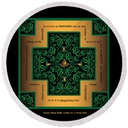Dragon Egg Celtic Cross Round Beach Towel