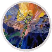 Dragon Summer Round Beach Towel
