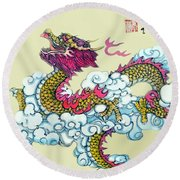 Round Beach Towel featuring the photograph Dragon by Yufeng Wang