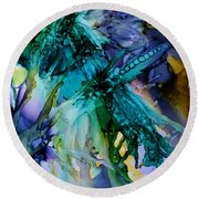 Dragonfly Dreamin Round Beach Towel