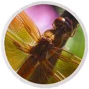 Dragonfly Patterns Round Beach Towel
