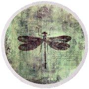 Dragonfly Round Beach Towel by Priska Wettstein