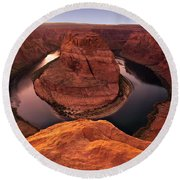 Round Beach Towel featuring the photograph Dramatic River Bend by David Andersen