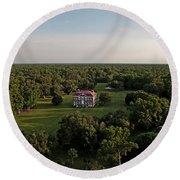 Drayton Hall Plantation, Charleston Sc Round Beach Towel