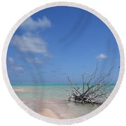 Dream Atoll  Round Beach Towel